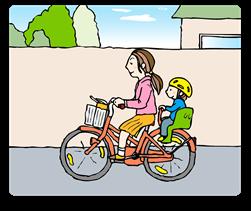 親子自転車イラスト
